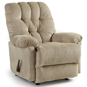 Best Home Furnishings Medium Recliners Raider Swivel Rocker Recliner