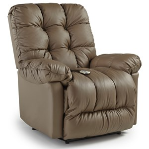 Best Home Furnishings Medium Recliners Brosmer Power Lift Recliner w/ Massage & Ht