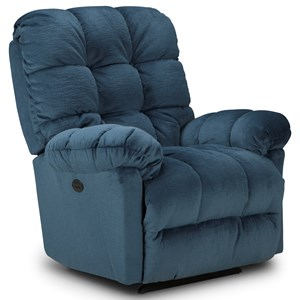 Best Home Furnishings Recliners - Medium Power Rocker Recliner w/ Pwr Headrest