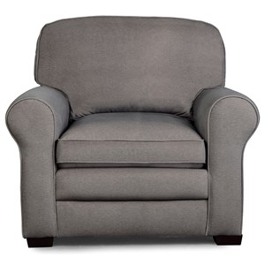 Casual Chair with Large Rolled Arms