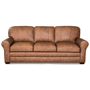 Casual Sofa with Large Rolled Arms