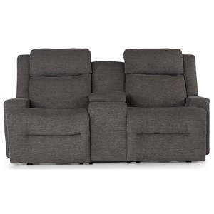 Space Saver Console Reclining Loveseat