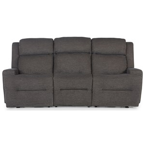 Space Saver Reclining Sofa w/ Drop Down Tray