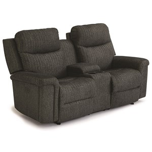 Wall Saver Console Loveseat with Power Tilt Headrests and USB Ports
