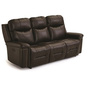 Space Saver Reclining Sofa with Power Tilt Headrests and USB Ports