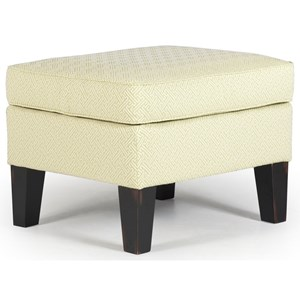 Ottoman with Tall Tapered Legs