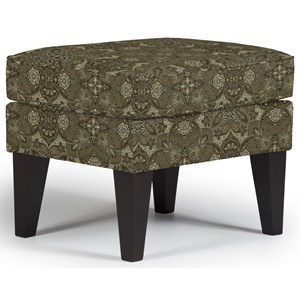 Karla Ottoman with Modern Tapered Legs