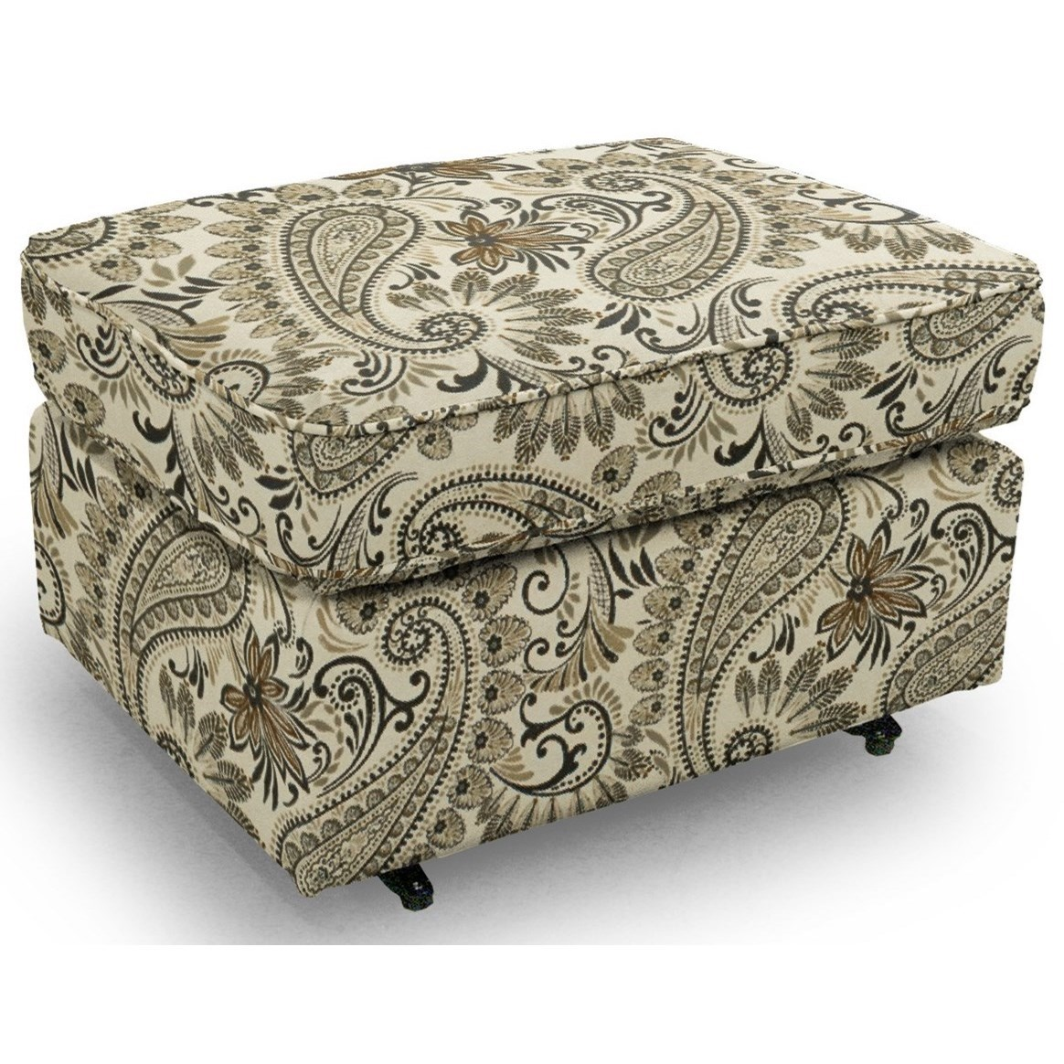 Ottomans Rounded Casual Ottoman by Best Home Furnishings at Lucas Furniture & Mattress