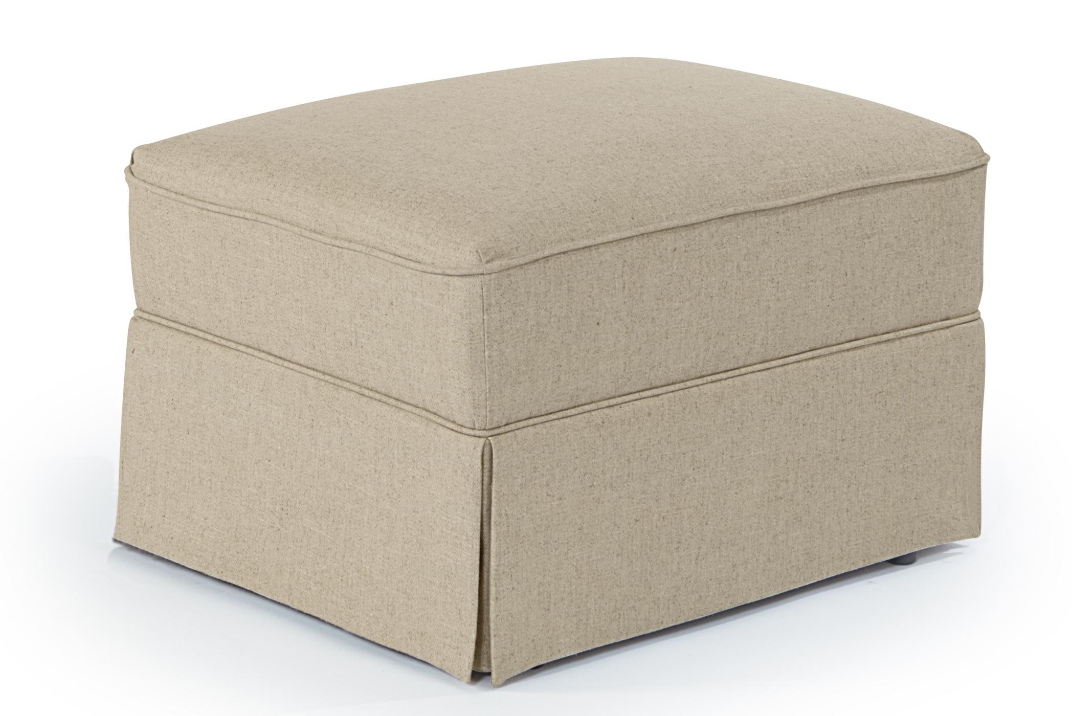 Ottomans Skirted Glide Ottoman by Best Home Furnishings at Baer's Furniture