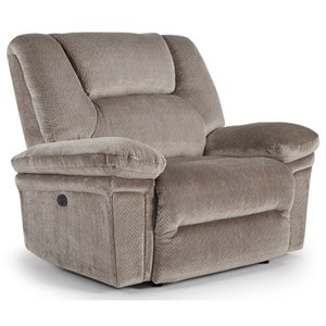 Casual Power Space Saver Recliner with Power Tilt Headrest and USB Port
