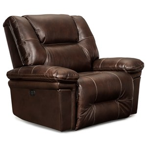 Casual Space Saver Recliner with Wide Seat