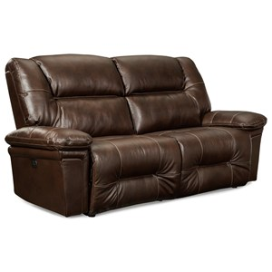 Casual Space Saver Reclining Sofa with Wide Seats