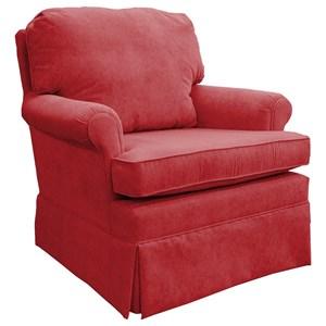 Traditional Swivel Glider Club Chair