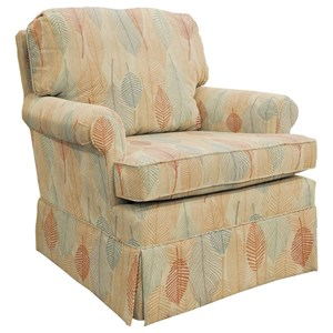Traditional Swivel Glider Club Chair