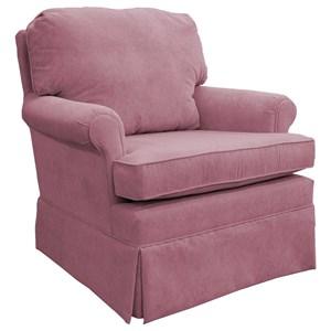 Classic Swivel Rocking Club Chair