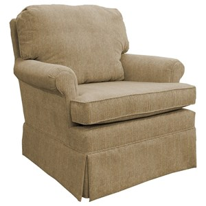 Classic Swivel Rocking Club Chair