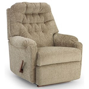 Best Home Furnishings Petite Recliners Sondra Swivel Rocker Recliner