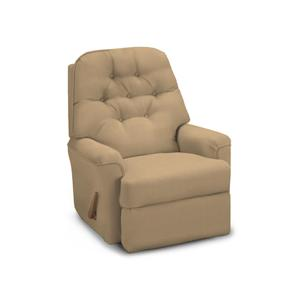 Cara Rocker Recliner with Button Tufted Seat Back