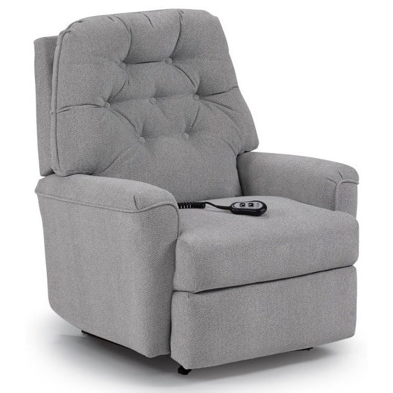 Petite Recliners Cara Rocker Recliner by Best Home Furnishings at Lapeer Furniture & Mattress Center