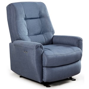 Felicia Swivel Rocker Recliner with Button-Tufted Back