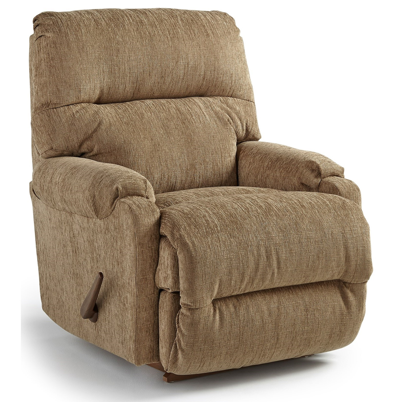 Cannes Swivel Rocker Recliner by Bravo Furniture at Bennett's Furniture and Mattresses