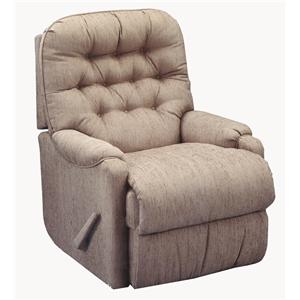 Best Home Furnishings Petite Recliners Brena Swivel Rocker Recliner
