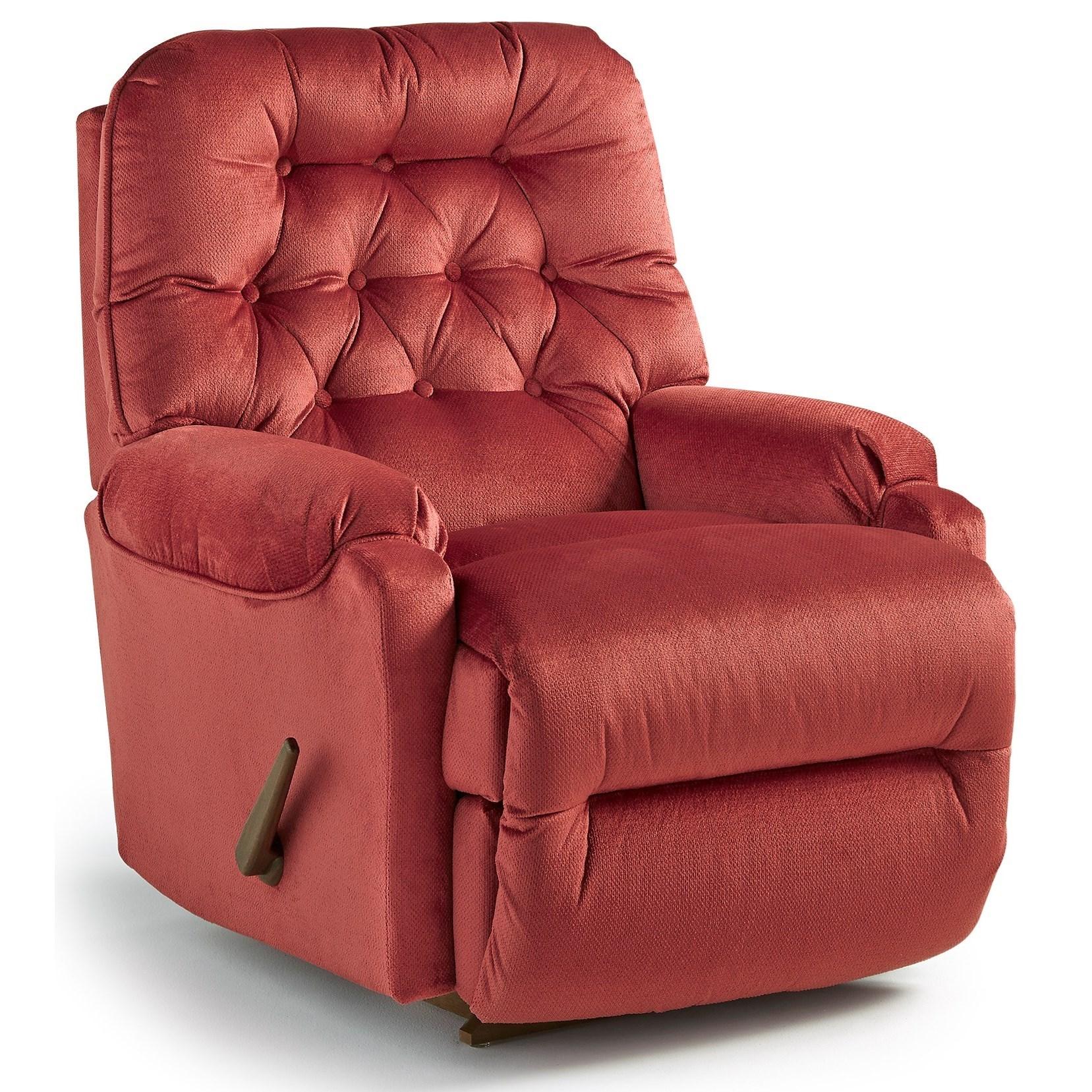 Petite Recliners Brena Rocker Recliner by Best Home Furnishings at Lucas Furniture & Mattress