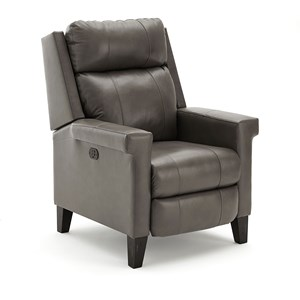 Contemporary High Leg Recliner with Power Motion