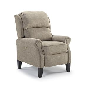 Power Recliner with Rolled Arms and Power Adjustable Headrest