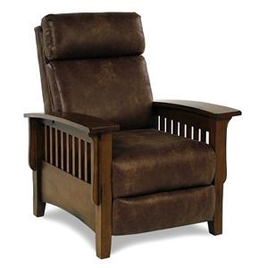 Push Back Recliner w/ Durable Leather-Look Fabric