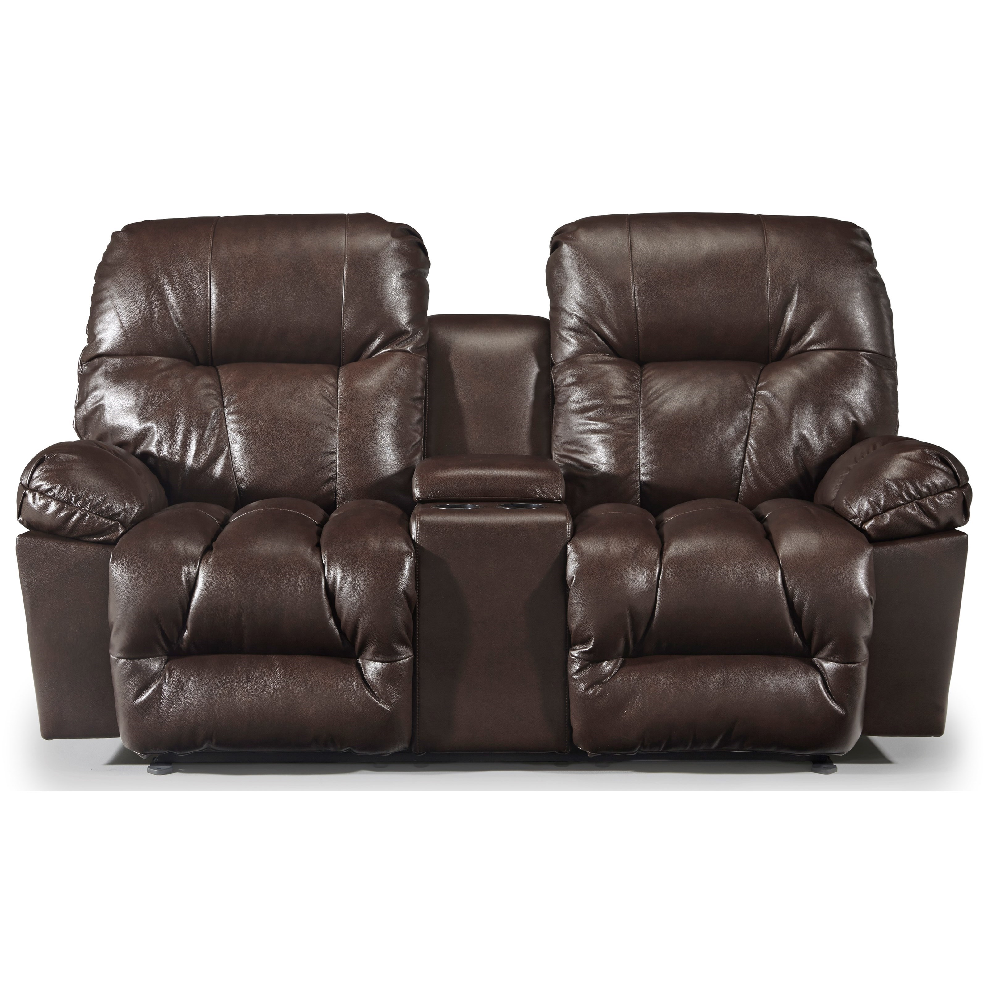 Retreat Rocker Recliner Console Loveseat by Best Home Furnishings at Best Home Furnishings