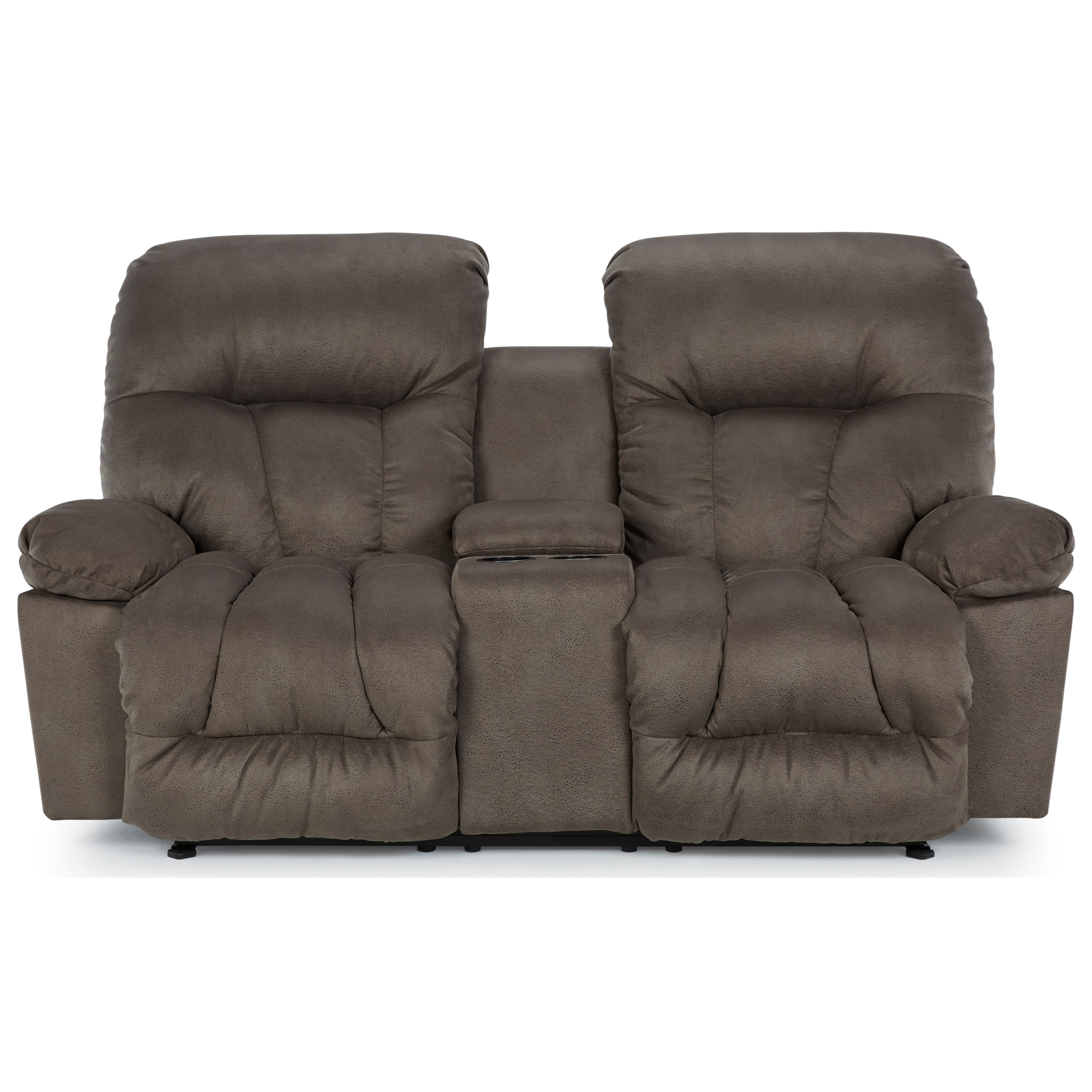 Retreat Power Rocker Recliner Console Loveseat by Best Home Furnishings at Best Home Furnishings