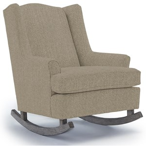 Willow Upholstered Rocking Chair with Wood Runners