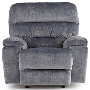 Casual Power Rocker Recliner with Power Headrest and USB Port