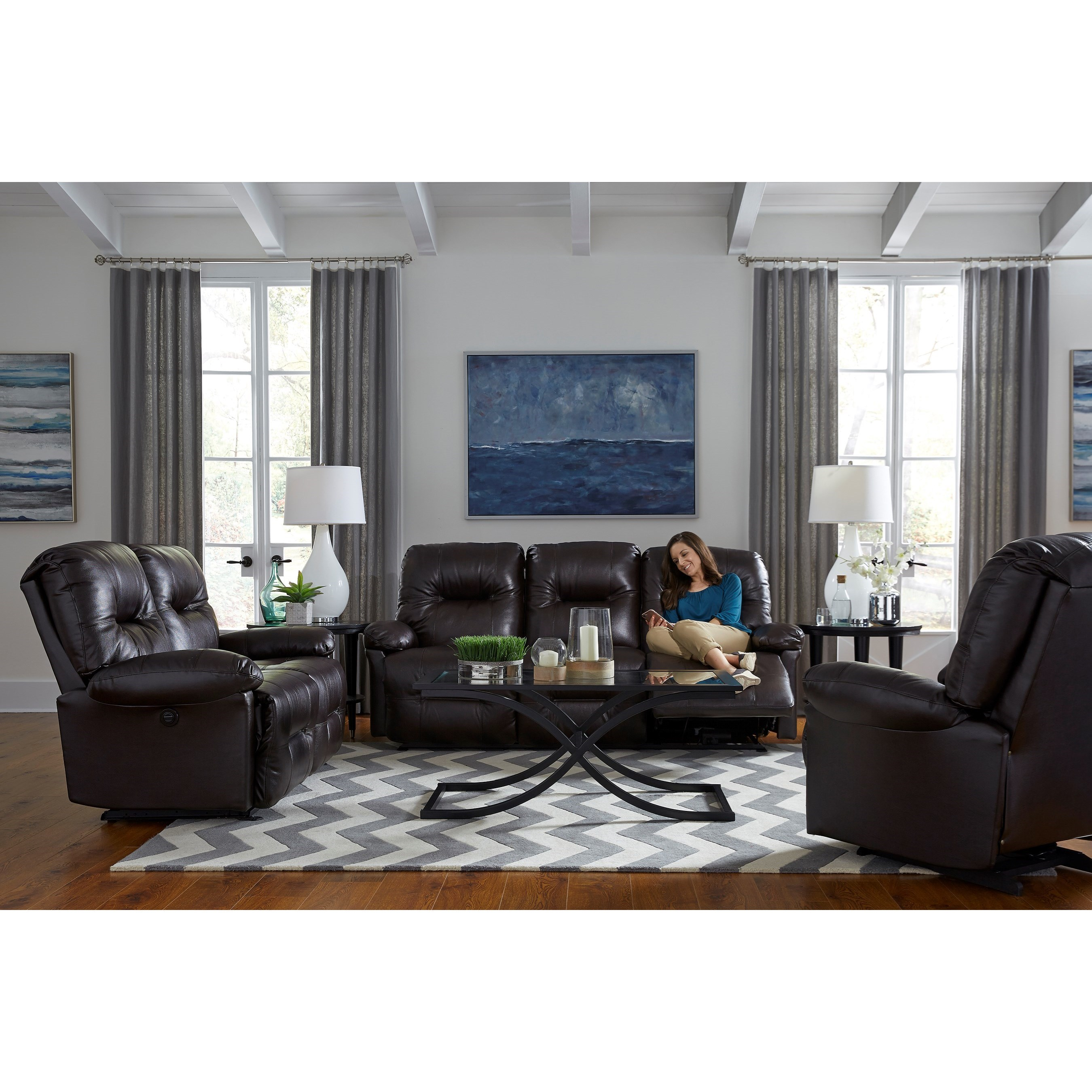 S501 Zaynah Power Reclining Living Room Group by Best Home Furnishings at Baer's Furniture
