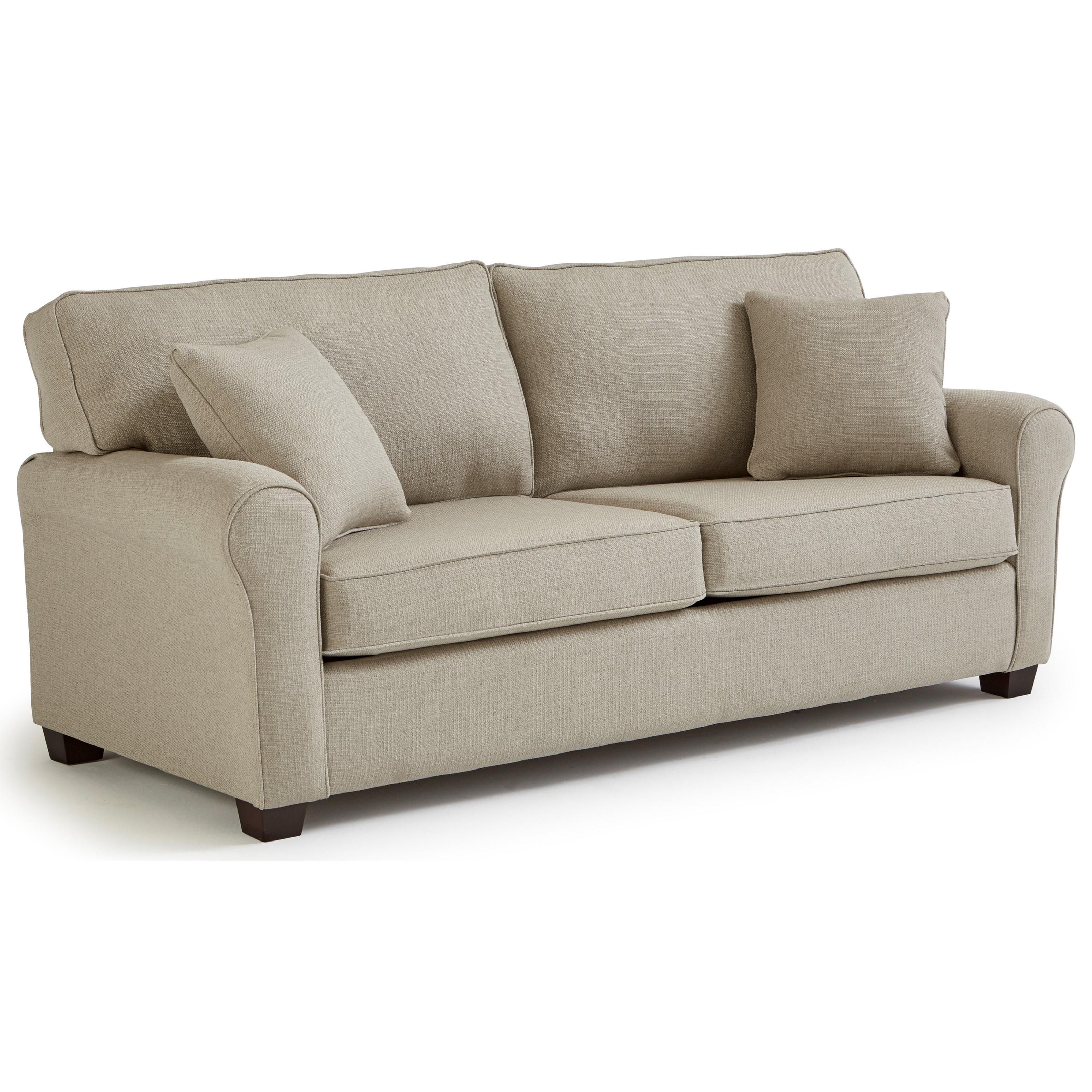 Shannon Queen Sofa Sleeper w/ Memory Foam Mattress by Best Home Furnishings at Saugerties Furniture Mart