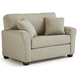Twin Sofa Sleeper with Memory Foam Mattress