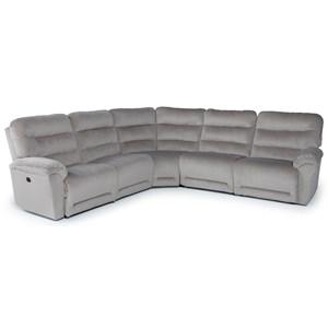 Five Piece Power Reclining Sectional Sofa with Power Tilt Headrest