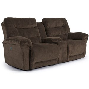 Power Space Saver Console Reclining Sofa with Power Tilt Headrest and USB Ports