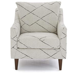Mid-Century Modern Upholstered Chair with Reversible Seat Cushion