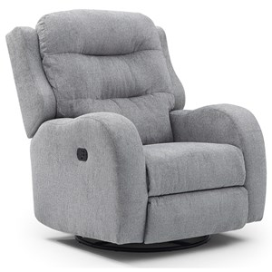 Power Swivel Glider Recliner with High Padded Back