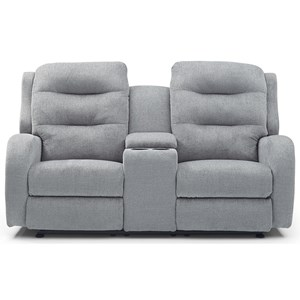 Reclining Rocker Console Loveseat with High Padded Back
