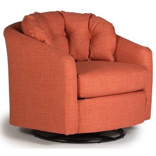 Chairs - Swivel Barrel Sanya Swivel Barrel Chair by Best Home Furnishings at Lapeer Furniture & Mattress Center