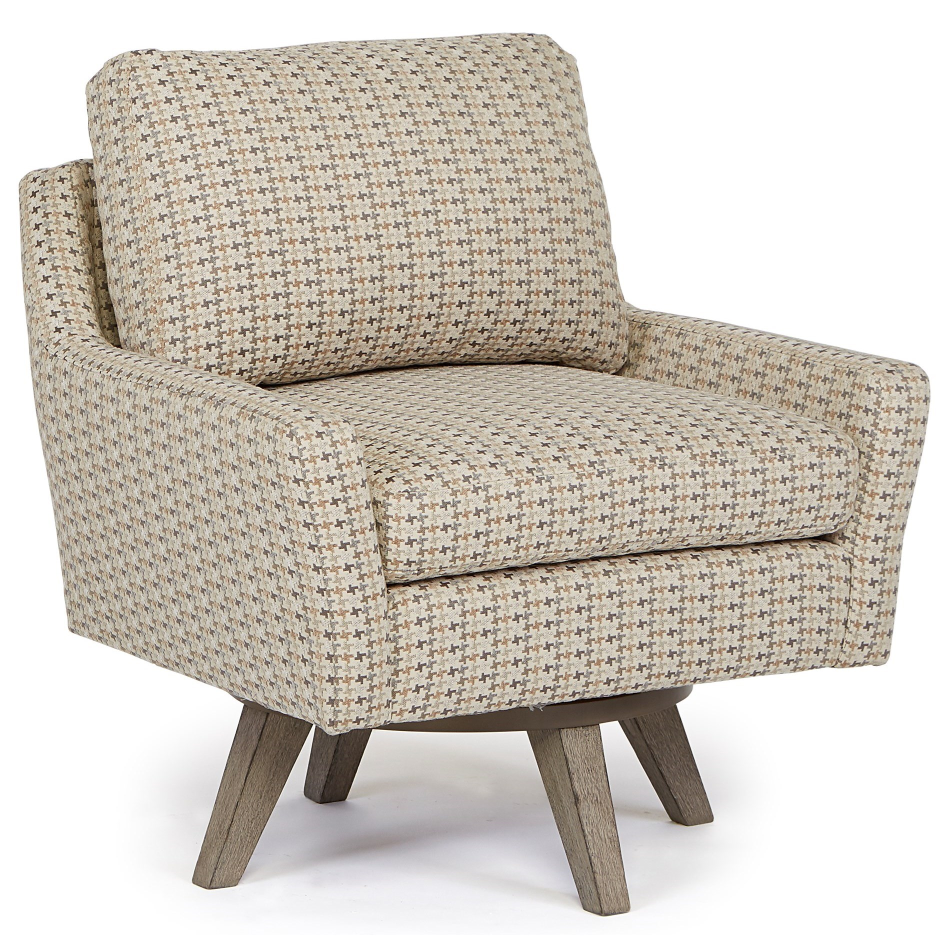 Chairs - Swivel Barrel Seymour Swivel Chair by Best Home Furnishings at Lapeer Furniture & Mattress Center