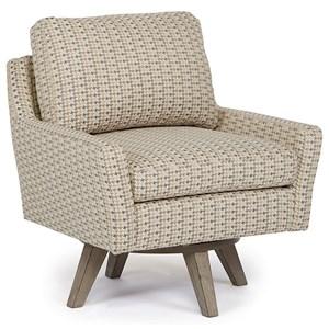 Morris Home Furnishings Chairs - Swivel Barrel Seymour Swivel Chair