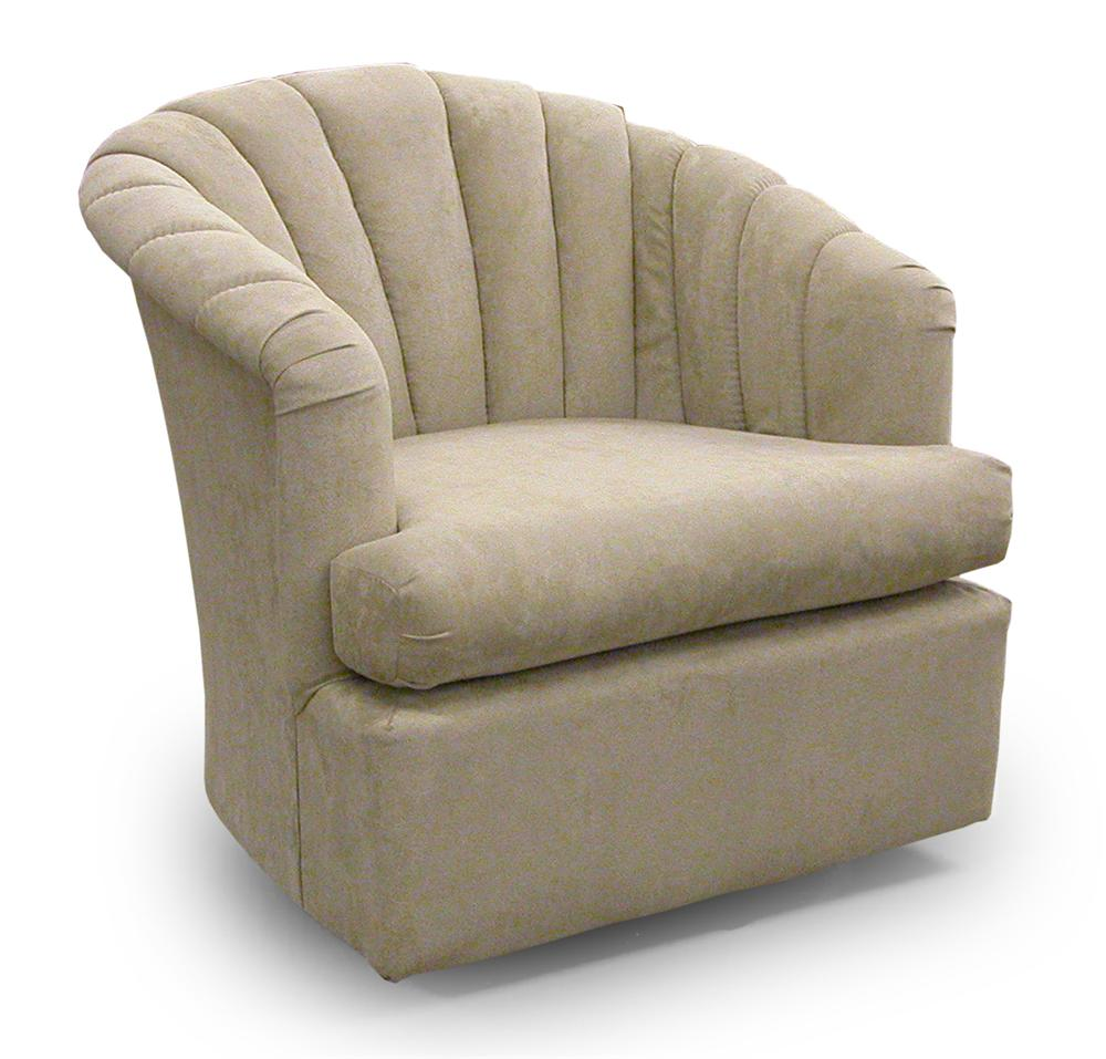 Chairs - Swivel Barrel Elaine Swivel Barrel Chair by Best Home Furnishings at Powell's Furniture and Mattress