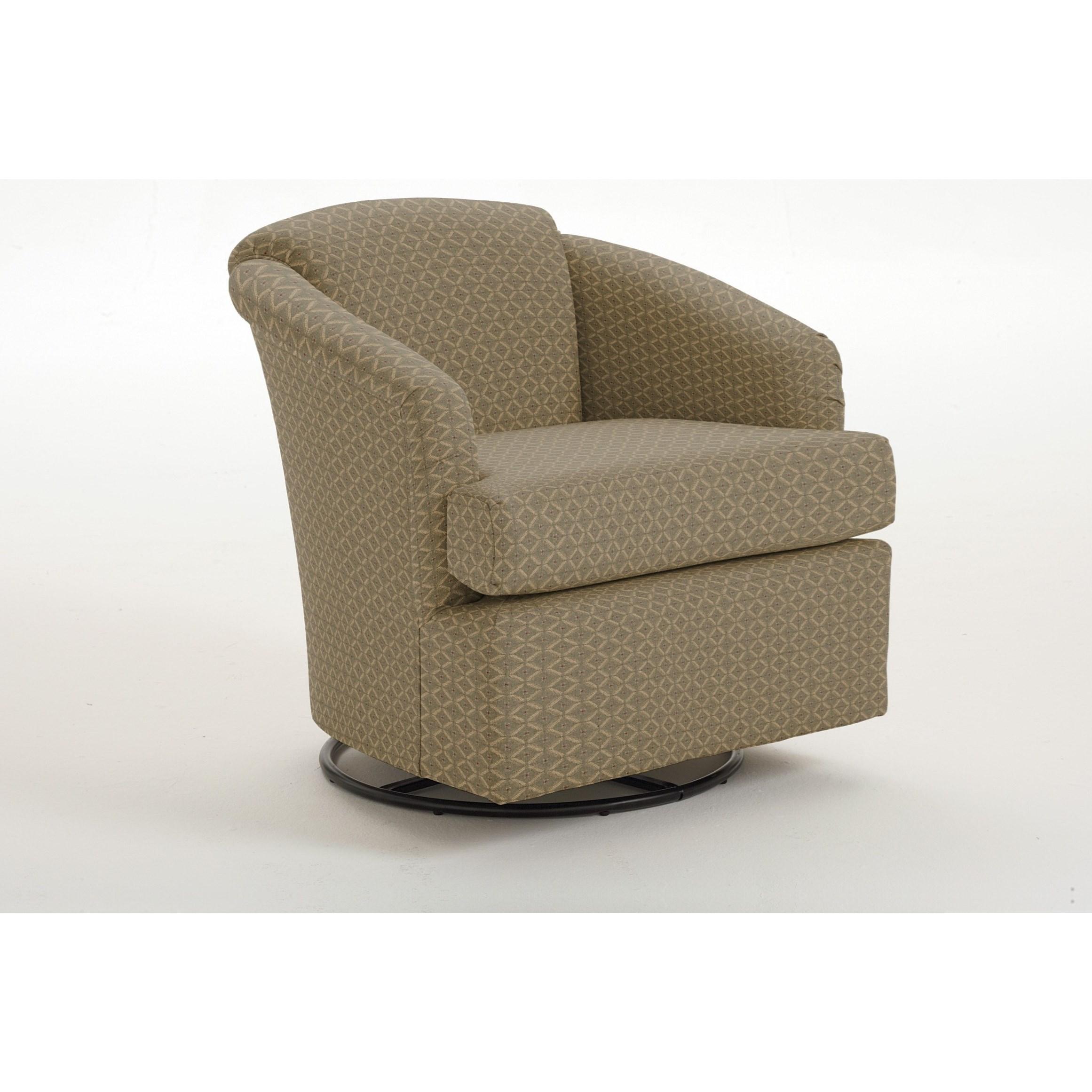Chairs - Swivel Barrel Cass Swivel Barrel Chair by Best Home Furnishings at Lapeer Furniture & Mattress Center
