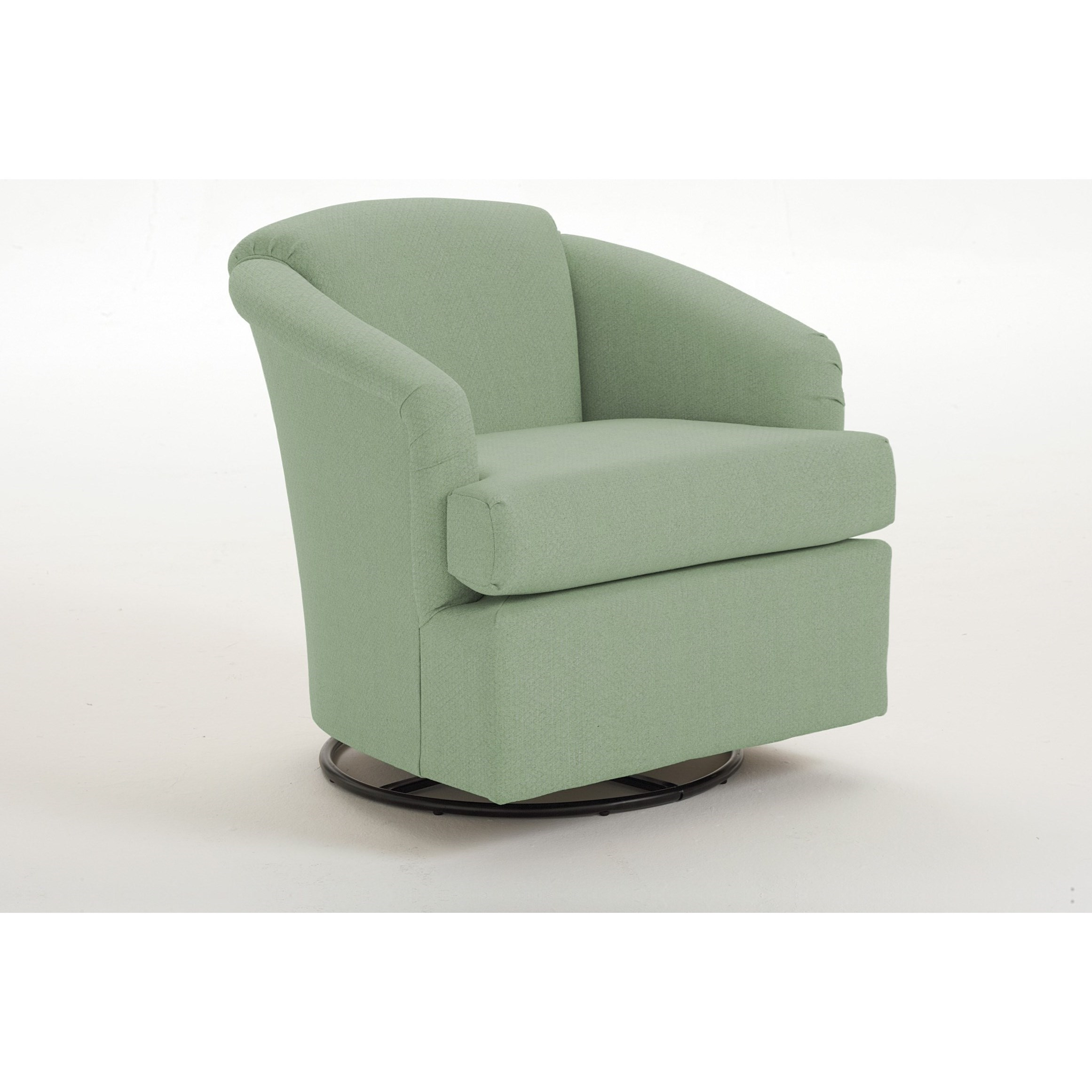 Chairs - Swivel Barrel Cass Swivel Barrel Chair by Best Home Furnishings at Steger's Furniture