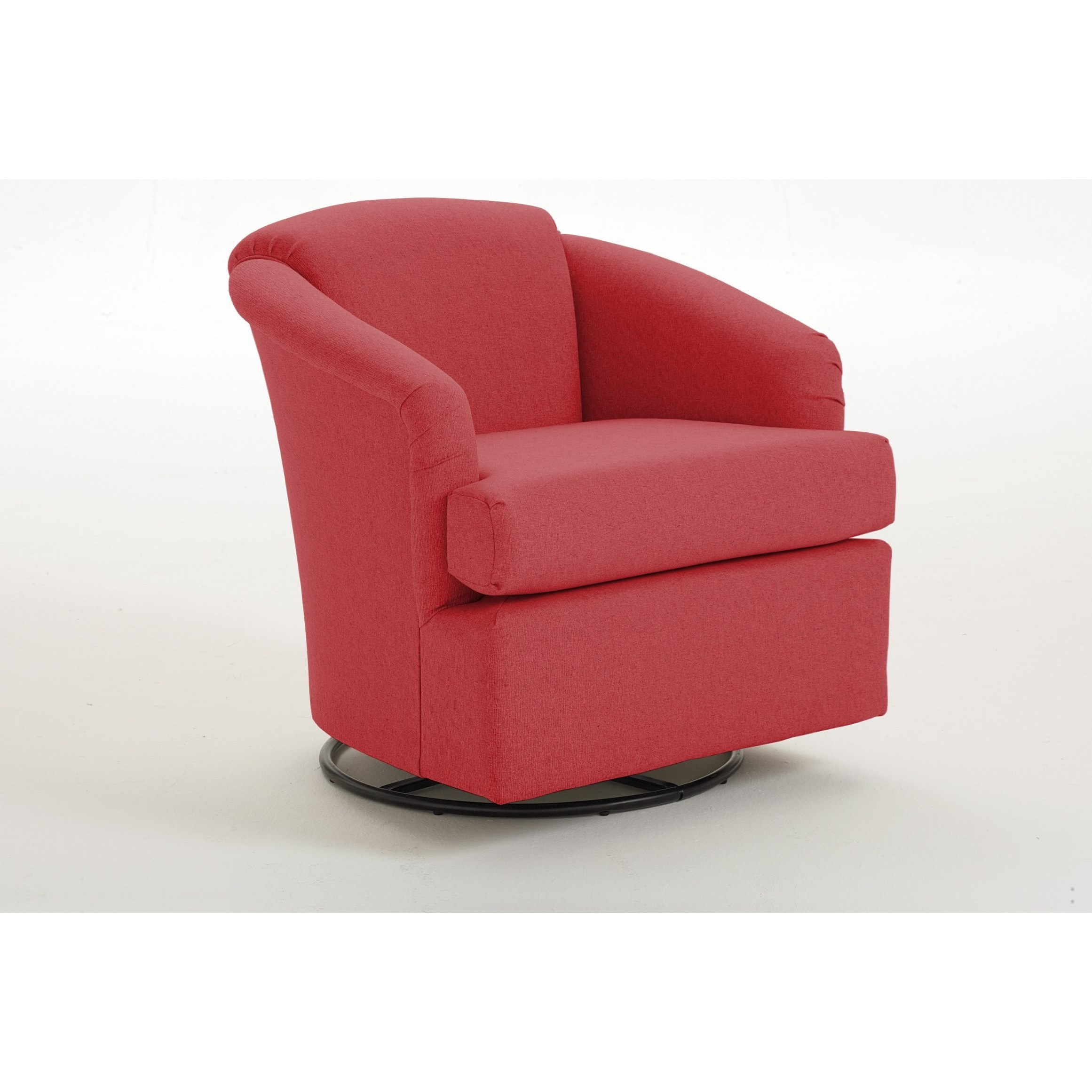 Swivel Barrel Cass Swivel Barrel Chair by Best Home Furnishings at Walker's Furniture