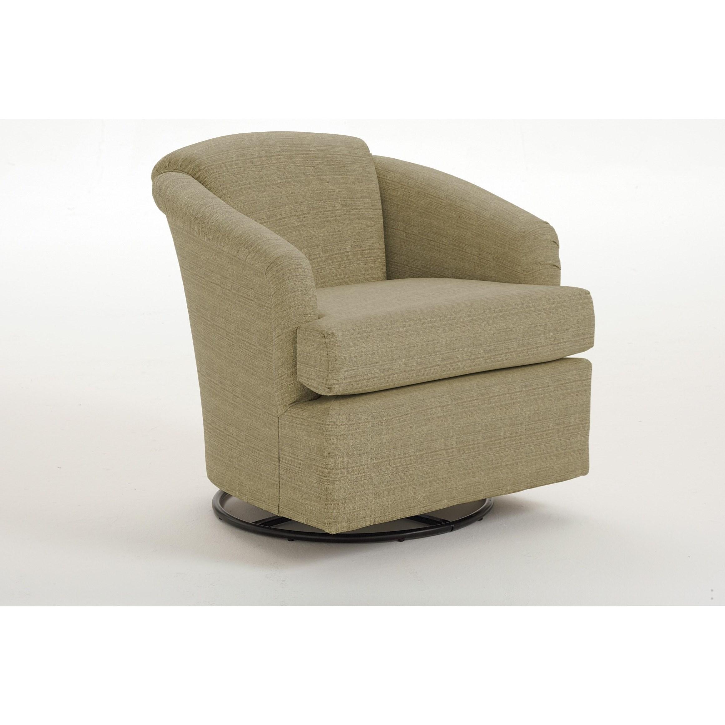 Chairs - Swivel Barrel Cass Swivel Barrel Chair by Best Home Furnishings at Lucas Furniture & Mattress